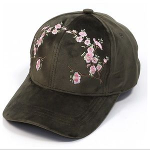 Embroidered Cap- Olive